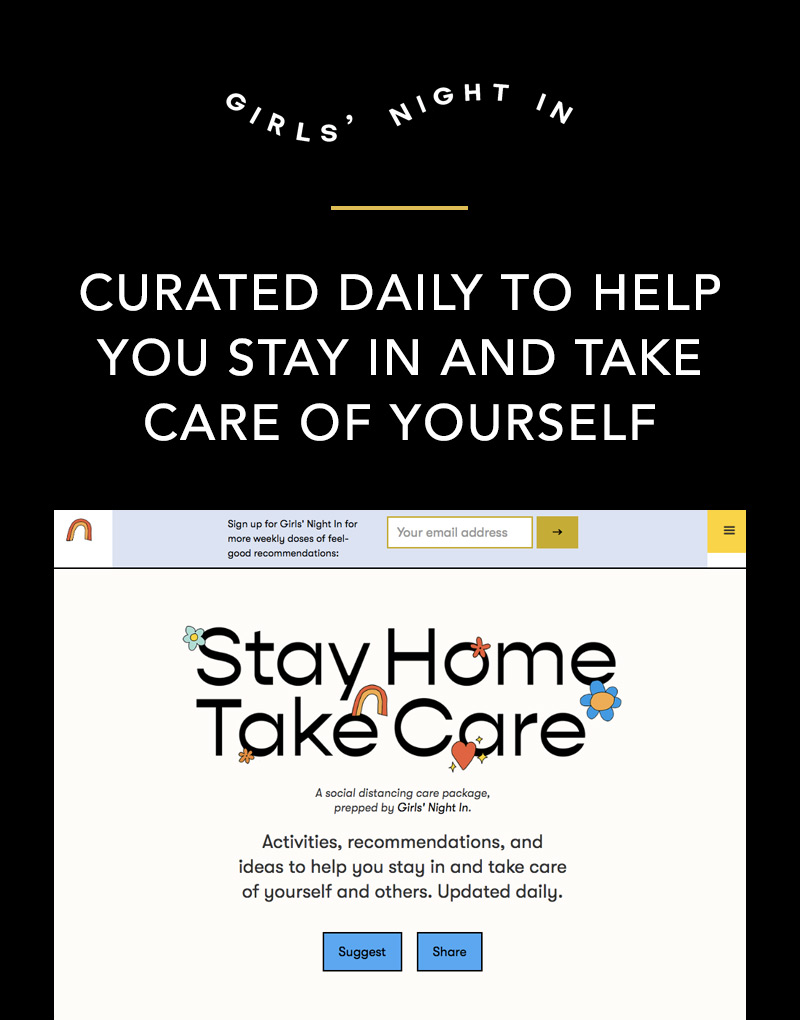 Girls' Night In: Stay Home Take Care Website